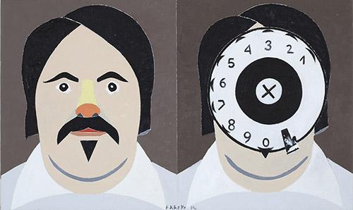 Edouardo Arroyo, Balzac 1850, 2014. Huile sur toile. Collection particulière. Courtesy Galerie Louis Carré & Cie. © Adagp, Paris, 2019.