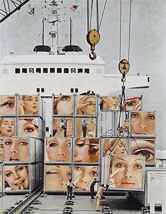 Martha Rosler, Cargo Cult, 1966-1972 d'après la série : Body Beautiful, or Beauty Knows No Pain. Courtesy de l'artiste et de la galerie Nagel Draxler Berlin / Cologne. © Martha Rosler.