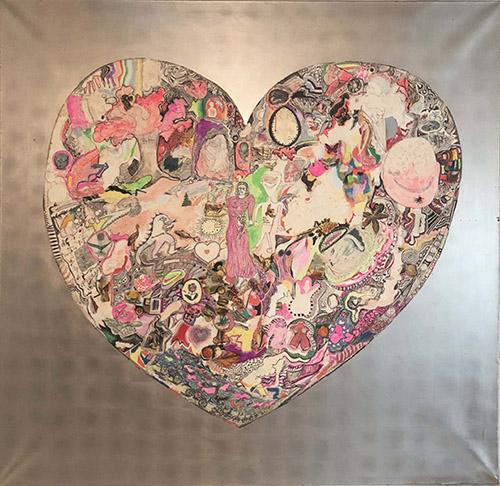 Niki de Saint Phalle, My heart, 1965. Peinture collage sur bois. Collection privée, Courtesy Niki Charitable Art Foundation and Galerie GP & N.Vallois, Paris. © D.R. © Adagp, Paris, 2020.