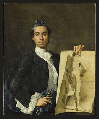 Luis Eugenio Meléndez, Portrait de l'artiste, 1746. Huile sur toile, 1 x 0,82 m, Paris musée du Louvre, département des Peintures, RF 2537. © RMN-Grand Palais (musée du Louvre) / Jean-Gilles Berizzi.