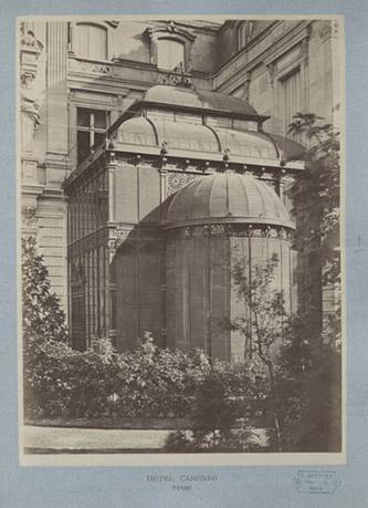 Photographie « Hôtel Camondo – Serre », vers 1875. © MAD Paris, musée Nissim de Camondo.