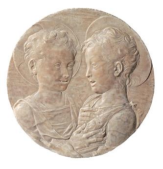Desiderio da Settignano (1428-1464), Le Christ et saint Jean-Baptiste enfants. Paris, musée du Louvre. Photo © Musée du Louvre, Dist. RMN-Grand Palais / Pierre Philibert.