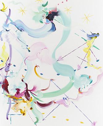 Fiona Rae Abstract 3, 2019. Huile et acrylique sur toile, 213,4 x 175,3 cm. Crédit photo : Photography by Antony Makinson at Prudence Cuming Associates Ltd. Courtesy de l'artiste et Galerie Nathalie Obadia Paris / Bruxelles.