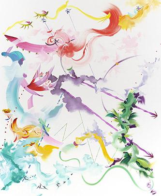 Fiona Rae Abstract 6, 2019. Huile et acrylique sur toile, 213,4 x 175,3 cm. Crédit photo : Photography byAntony Makinson at Prudence Cuming Associates Ltd. Courtesy de l'artiste et Galerie Nathalie Obadia Paris / Bruxelles.