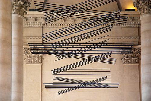 Vue de l'œuvre pérenne L'Onde du Midi d'Elias Crespin, le 24 janvier 2020. Photo © Anne-Frédérique Fer / FranceFineArt.com
