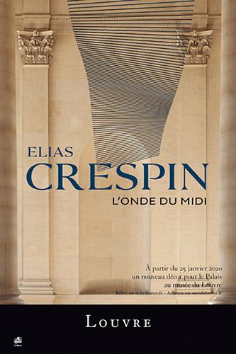 Affiche Elias Crespin, L'Onde du Midi. Un nouveau décor pérenne pour le palais du Louvre. © Elias Crespin.