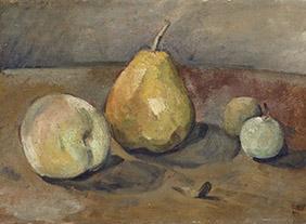 Paul Cezanne, Nature morte, poires et pommes vertes, vers 1873.