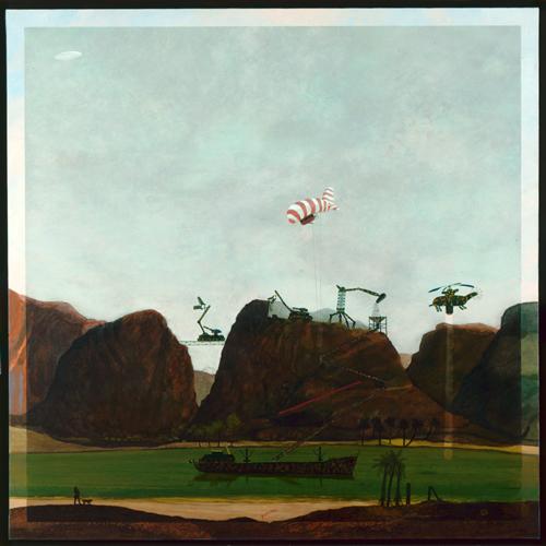 José Gamarra, Les Indiens nous regardent, 1980. Huile sur toile, 150 x 150 x 2 cm. Collection MAC VAL – Musée d'art contemporain du Val-de-Marne. Photo© Claude Gaspari.