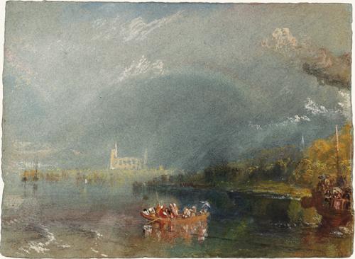 M. W. Turner (1775 – 1851), Jumièges, vers 1832. Gouache et aquarelle sur papier, 13,9 x 19,1 cm. Tate, accepté par la nation dans le cadre du legs Turner 1856. Photo ©. Tate.