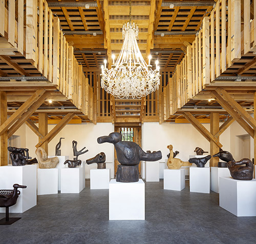 Les Oiseaux, exposition de Wang Keping au Domaine de Chaumont-sur-Loire, 2020. © Éric Sander.