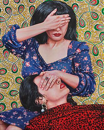 Nazanin Pouyandeh, L'invisible fièvre, 2020. 40 x 50 cm, huile sur toile. Courtesy artiste & Galerie Sator.