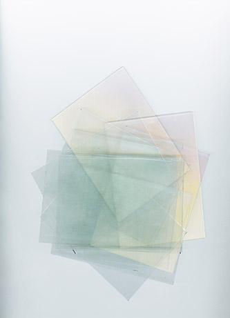 Myne Søe-Pedersen, Scanned Glass Plates, 2018. La n°3 - Série de 7 tirages jet d'encres pigmentaires, 23 × 32 cm. Courtesy Myne Søe-Pedersen.