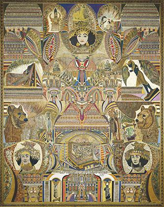 Augustin Lesage, Les Mystères de l'Antique Égypte, 1930. Huile sur toile, 143 × 113 cm. Donation de L'Aracine en 1999. LaM, Photo : © Claude Thériez. © Adagp, Paris, 2020.