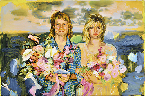 Tursic & Mille, Kurt and Courtney, 2016, huile sur bois, courtesy of the Artists and Almine Rech.