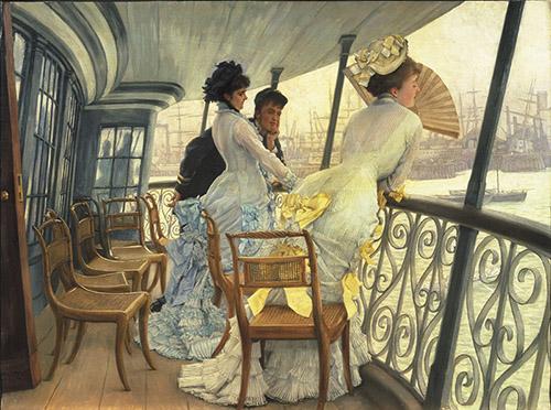 James Tissot (1836 - 1902), La galerie du HMS Calcutta (Portsmouth), vers 1876. Royaume-Uni, Londres, Tate Collection. Photo © Tate, Londres, Dist. RMN-Grand Palais / Tate Photography.