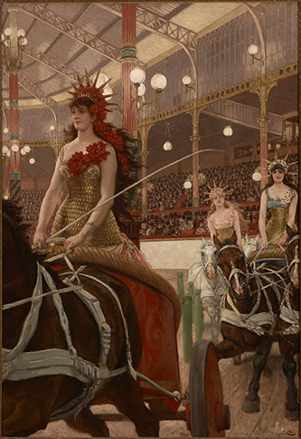 James Tissot (1836 - 1902), La femme à Paris : les dames des chars, 1883-1885. Huile sur toile 146,1 x 100,7 cm. Etat-Unis, Providence, Rhode Island School of Design. Photo © Courtesy of the RISD Museum, Providence, RI.