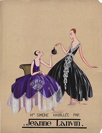 Marguerite Porracchia, Mme Simone habillée par Jeanne Lanvin, 1920-1922. Don Bruno Gaudenzi et Sandra Nahum, 2013. © Marguerite Porracchia.