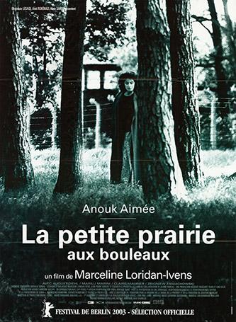 Affiche originale du film La petite prairie aux bouleaux, réalisé par Marceline Loridan-Ivens. Mémorial de la Shoah – Centre de documentation.
