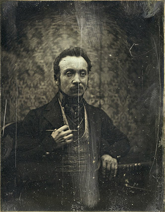 Joseph Philibert Girault de Prangey. Autoportrait présumé. 1840. Daguerréotype. Paris, BnF.cliché BnF.