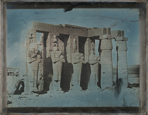 Joseph Philibert Girault de Prangey. Ramesseum, Thèbes. 1844. Daguerréotype, New-York, MET / licence Creatives commons.