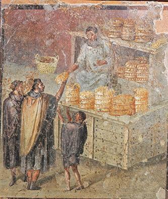 Dernier repas à Pompéi au Musée de l'Homme. © Musée archéologique national de Naples.