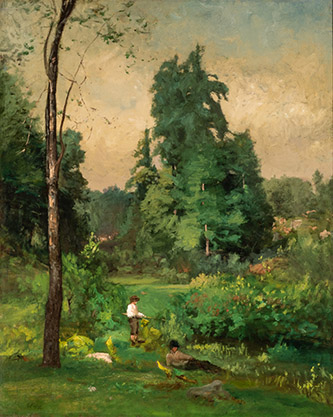 George Inness (1825-1894), L'Été à Montclair, 1877. Huile sur toile, 106,2 x 85,7 cm. Chicago, Terra Foundation for American Art, Collection Daniel J. Terra, 1999.78. © Terra Foundation for American Art, Chicago.