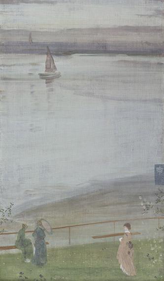 James Abbott McNeill Whistler (1834-1903), Variations en violet et vert, 1871. Huile sur toile, 61,5 x 35,5 cm. Paris, musée d'Orsay, acquis avec le concours du Fonds National du Patrimoine et la participation de Philippe Meyer, 1995, RF 1995-5. © RMN-Grand Palais (musée d'Orsay) / Patrice Schmidt.
