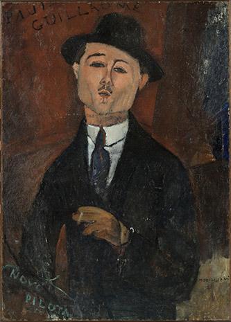Amedeo Modigliani (1884 – 1920), Paul Guillaume, Novo Pilota, 1915. Huile sur carton collé sur contre-plaqué parqueté, 105 x 75 cm. © RMN-Grand Palais (musée de l'Orangerie) / Hervé Lewandowski.