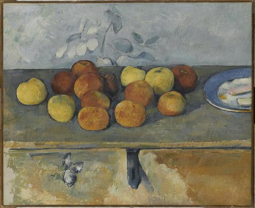 Paul Cézanne (1839 – 1906), Pommes et biscuits; Vers 1880, Vers 1879-1880. Huile sur toile, 45 x 55 cm. © RMN-Grand Palais (musée de l'Orangerie) / Franck Raux.