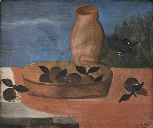 André Derain (1880-1954), Nature morte aux fruits, Vers 1920. Huile sur panneau, 46 x 55 cm. © Musée de l'Orangerie / Patrice Schmidt © ADAGP, Paris 2020.
