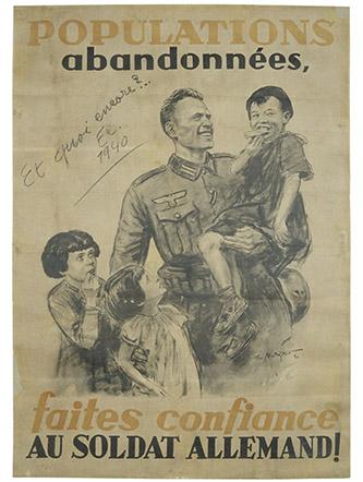 Affiche de propagande allemande réalisée par Theo Matejko, Paris, musée de l'Armée | © Paris - Musée de l'Armée, Dist. RMN-Grand Palais.