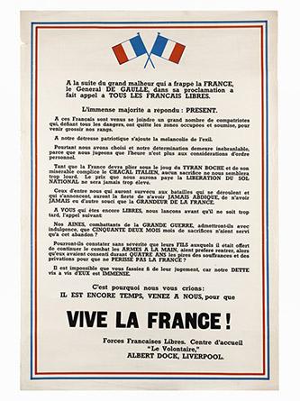 Affiche « Appel aux Français de Liverpool », Paris, musée de l'Armée | © Paris - Musée de l'Armée, Dist. RMN-Grand Palais / Émilie Cambier.