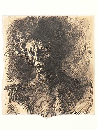 Antoine Bourdelle, Beethoven, Vers 1903. Plume et encre noire, lavis d'encre noire sur papier Musée Bourdelle, Paris. Photo : Musée Bourdelle/Paris Musées