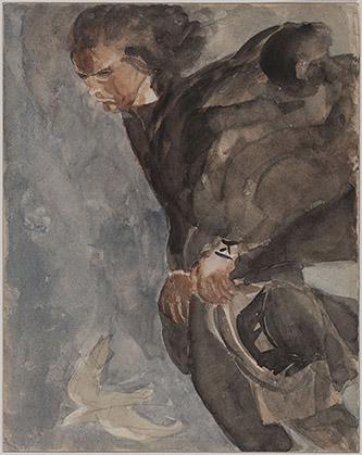 Antoine Bourdelle, La Pathétique, 1929. Plume et encre noire, aquarelle sur papier chiffon. Musée Bourdelle, Paris. Photo : musée Bourdelle/Paris Musées.