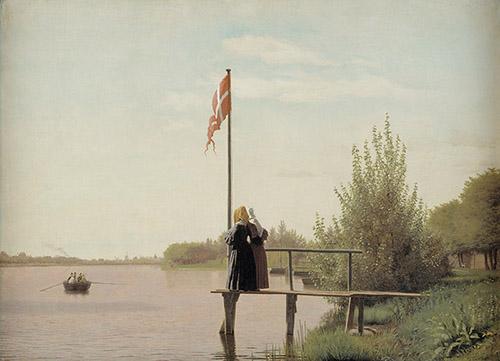 Christen Købke (1810-1848), Vue de Dosseringen, 1838. Huile sur toile, 53 x 71,5 cm, Copenhague, Statens Museum for Kunst. © SMK Photo/Jakob Skou-Hansen.