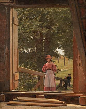 Christen Købke, Vue du haut d'un grenier à blé dans la citadelle de Copenhague, 1831. Huile sur toile, 39 x 30,5 cm, Copenhague, Statens Museum for Kunst. © SMK Photo/Jakob Skou-Hansen.