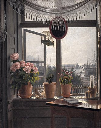 Martinus Rørbye, Vue depuis la fenêtre du peintre, 1825. Huile sur toile, 38 x 29,8 cm, Copenhague, Statens Museum for Kunst. © SMK Photo/Jakob Skou-Hansen.