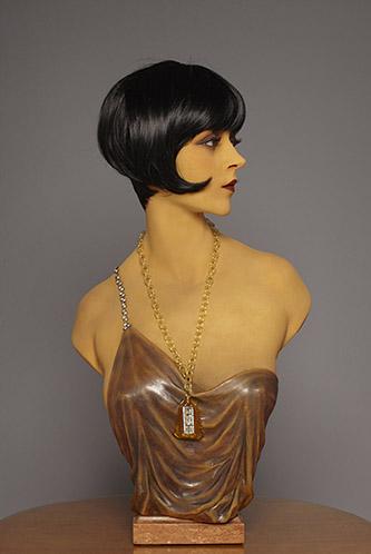 Pierre Imans, Buste de coiffeur en cire fin années 20, fin années 20. Cire, perruque de cheveux humains. 71 x 39 x 30 cm. Collection privée. © Nicolas Descottes.