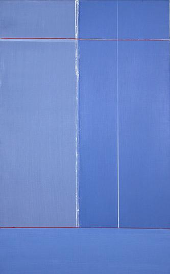 Geneviève Asse, Quadrille, 2009. Huile sur toile 116 x 73 cm. Galerie Oniris.