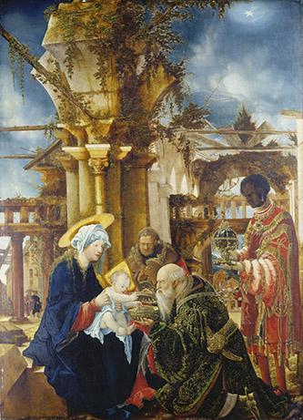 Albrecht Altdorfer, Adoration des Mages, vers 1530-1535. Huile sur bois, 108,9 x 77,2 cm, Francfort, Städel Museum © Städel Museum - U. Edelmann – ARTOTHEK.