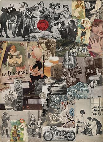 Jiří Kolář (1914-2002), Illustration pour le livre de Bohumil Hrabal « Automat svet », édition allemenade, 1966 collage. 45 x 32,5 cm. Coll. Claude et Henri de Saint Pierre. © Jiří Kolář.
