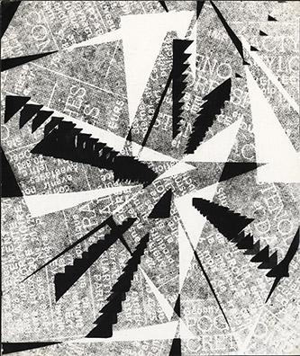 Běla Kolářová (1923–2010), Variace II (Variation II), 1962. épreuve gélatino-argentique 27,2 x 22,8 cm. Coll. Claude et Henri de Saint Pierre. ©Droits réservés.