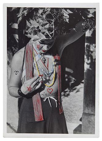 Annemarie von Matt, Eva Henn Blutzger-Photo / Photo Blutzger, 1967. Photographie par Eva Henn, peinte par Annemarie von Matt, 8,9 x 12 cm, Kantonsbibliothek Nidwalden. Photo: Christian Hartmann.