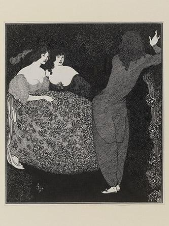 Aubrey Beardsley (1872-1898), Tristan und Isolde, 1896. Encre sur papier, 18,6 com x 16,2 cm. Royaume-Uni, Londres, Victoria and Albert Museum. Photo : © Victoria and Albert Museum, London.