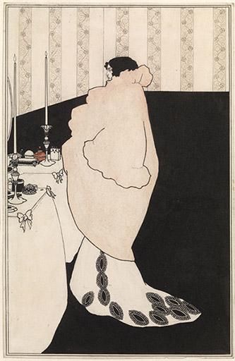 Aubrey Beardsley (1872-1898), La Dame aux camélias, 1894. Encre et aquarelle sur papier 27,9 x 18,1 cm. Royaume-Uni, Londres, Tate Collection. © Tate, Londres, Dist. RMN-Grand Palais / Tate Photography.