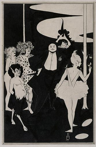 Aubrey Beardsley (1872-1898), Projet pour le frontispice des pièces de John Davidson. Royaume-Uni, Londres, Tate Collection. © Tate, Londres, Dist. RMN-Grand Palais / Tate Photography.