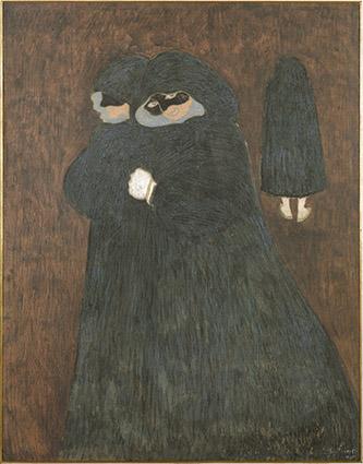Léon Spilliaert (1881 - 1946), Les dominos, 1913. Encre de Chine, lavis, pinceau, gouache et pastel et craie noire sur carton. Paris, musée d'Orsay, 88 x 69 cm. © Musée d'Orsay, dist. RMN-Grand Palais / Patrice Schmidt.