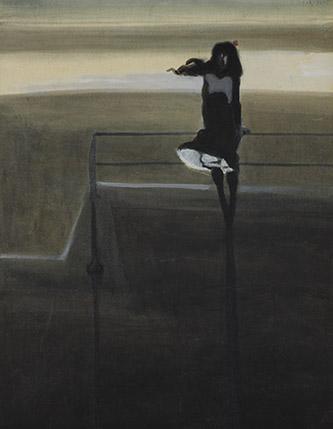 Léon Spilliaert (1881 - 1946), Le Coup de vent, 1904. Lavis d'encre de Chine, aquarelle et gouache sur papier, 51 x 41 cm. Inv. SM000003, Collection Mu.ZEE, Oostende. © Mu.ZEE, Steven Decroos, 2017.