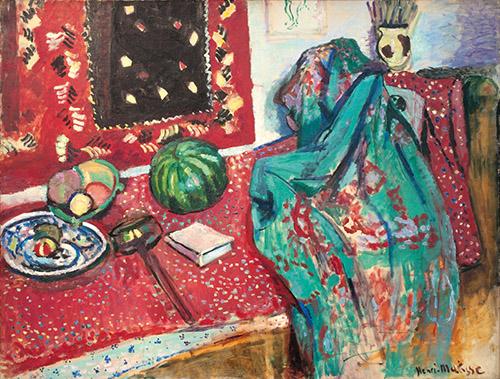 Henri Matisse, Les Tapis rouges, 1906. Huile sur toile, 86 x 116 cm. Musée de Grenoble. © Succession H. Matisse. Photo © Ville de Grenoble/Musée de Grenoble- J.L. Lacroix.