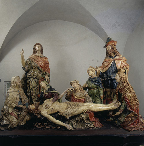 Giovanni Angelo Del Maino. Déploration du Christ, vers 1515-20. Bellano, église Santa Marta. © Archives Alinari, Florence, Dist. RMN-Grand Palais / Luciano Pedicini.